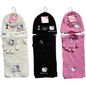 Conjunto gorro guantes y bufanda Hello Kitty