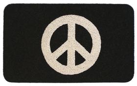 Felpudo con el símbolo de la paz