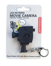 Llavero en forma de cámara de cine