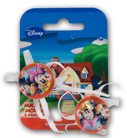 Gomas para el pelo con lacitos de la Minnie y el Mickey redonda roja (2 unidades)