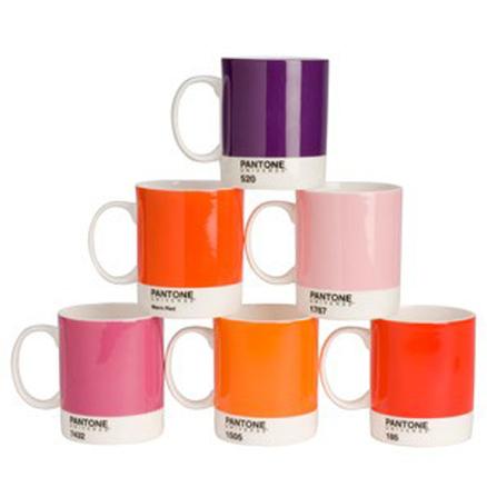 Mug taza grande pantone gama rosa rojo - Pantone textil gratis ...