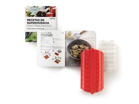 Kit Recetas de superviviencia ( incluye estuche de vapor con bandeja 1-2 personas)