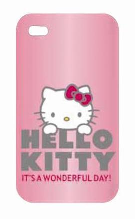 Carcasa de la Hello Kitty de color rosa para el iPhone 4