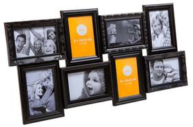 Marco de fotos Magic múltiple para 8 fotos de color negro