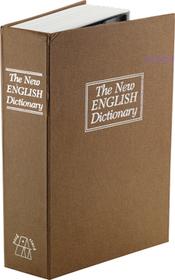 Caja fuerte en forma de diccionario de inglés