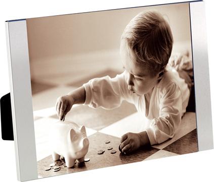 Marco de fotos Padova para 1 foto 10x15 plateado de de aluminio