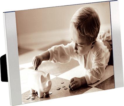 Marco de fotos Padova para 1 foto 13x18 plateado de aluminio