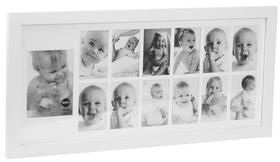 Marco de fotos My First Year para 1 foto 13x18 y 12 fotos 10x15
