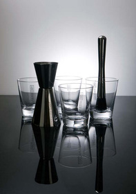Set Caipirinha Dry Collection inoxidable y vidrio
