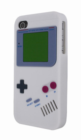 Funda silicona game boy blanca para iPhone 4-4S