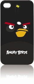 Funda angry birds para iPhone 4-4S negra