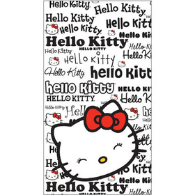 Toalla blanca letras Hello Kitty