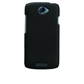 Funda trasera rígida de color negro para HTC ONE S