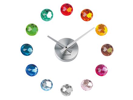 Reloj de pared adhesivo diy con diamantes multicolores - Reloj pared adhesivo ...