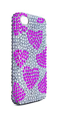 Carcasa trasera brillantes corazones iPhone 4-4s