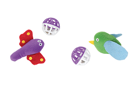 Cat Toy Set Play Butterlfly & Bird