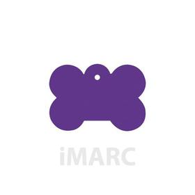 Placa grabada con forma de Hueso de color lila