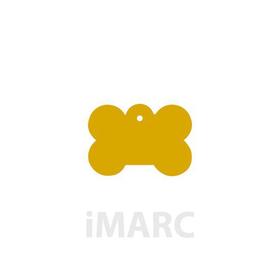 Placa grabada con forma de Hueso dorado