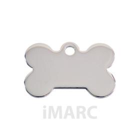 Placa grabada con forma de hueso baño de plata H925