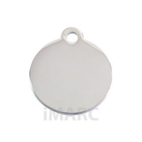 Placa grabada con forma de círculo baño de plata h925