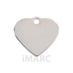Placa grabada con forma de corazón baño de plata H925