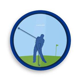 Reloj de pared de un Golfista