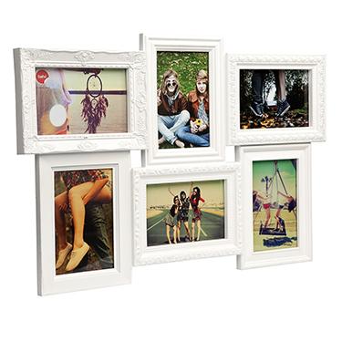 Marco de fotos Magic para 6 fotos 10x15 de color blanco