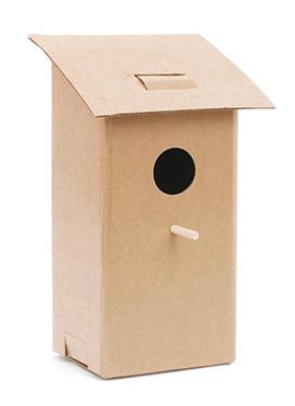 Casa de pájaro plegable