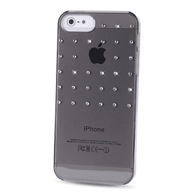 Carcasa trasera Grid Negra Swarovski Elements iPhone 5