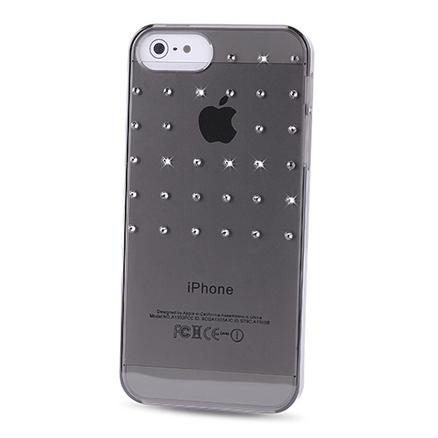 Carcasa trasera Grid Negra Swarovski Elements iPhone 5