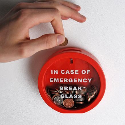 Hucha Romper en caso de emergencia
