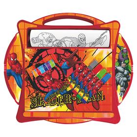 Set colorear pupitre y rollo grande Spiderman Marvel