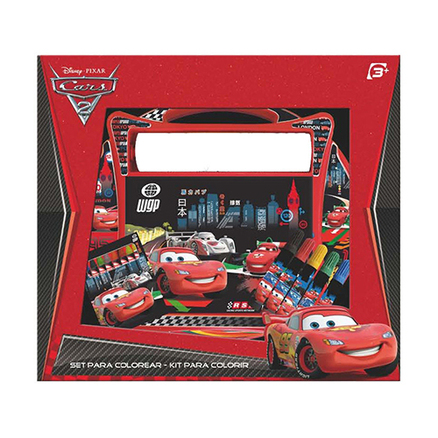 Set colorear pupitre y rollo grande Cars Disney