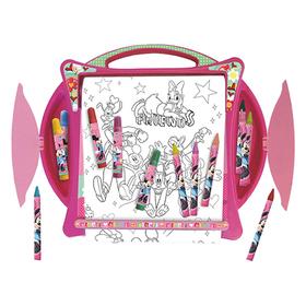 Set colorear pupitre y rollo grande Minnie Disney