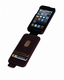 Funda flip wallet maroon marble Apple iPhone 5