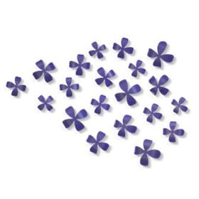 Flores adhesivas para la pared de color lila (25 unidades)