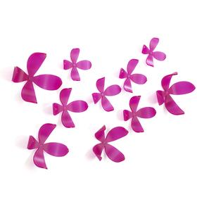 Flores adhesivas para la pared de color rosa (25 unidades)