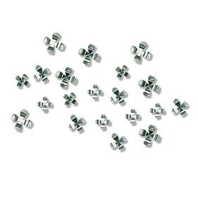 Flores adhesivas para la pared cromadas (20 unidades)