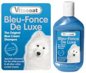 Vitacoat bleu fonce (pelo blanco)