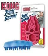 Kong Zoomgroom Cepillo masajeador de goma para perros