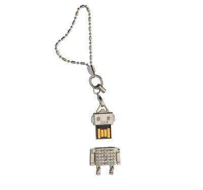 USB 8GB con forma de robot y cadena