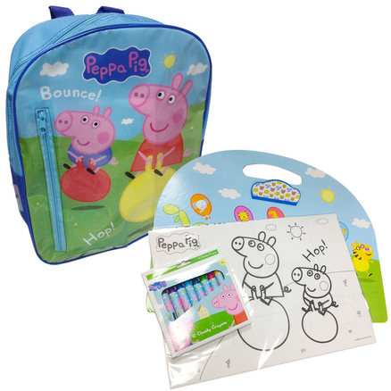 Mochila mediana y set actividades Peppa Pig
