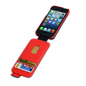 Funda flip wallet black orange Apple iPhone 5