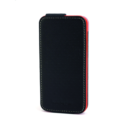 Funda flip wallet black orange Apple iPhone 5