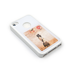 Funda iPhone 4 Marco 4.5x7.5 blanco ABS