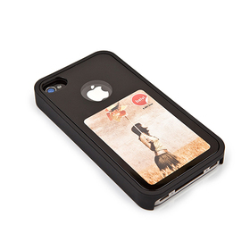 Funda iPhone 4 Marco 4.5x7.5 negro ABS
