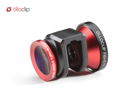 Objetivo 3en1 (Macro-Gran Angular-Ojo de Pez) rojo Apple Iphone 5 Olloclip