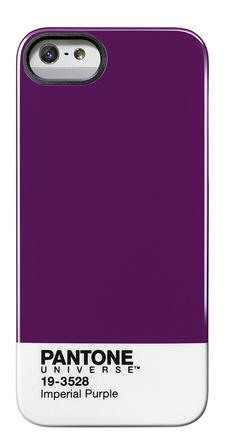 Carcasa trasera Pantone universe para iPhone 5 Imperial purple de color Lila
