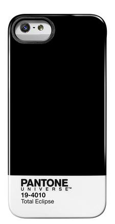 Carcasa trasera Pantone universe para iPhone 5 Total eclipse de color negro