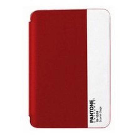 Funda Pantone universe para iPad mini standing bookcase de color rojo